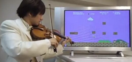 super mario bross con violin