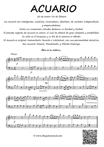 horóscopo musical el regalo musical