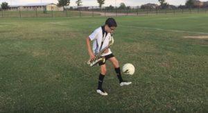 saxofon y futbol