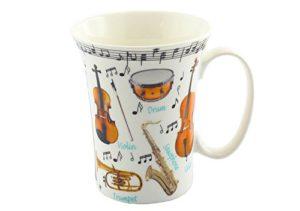 taza musical de porcelana