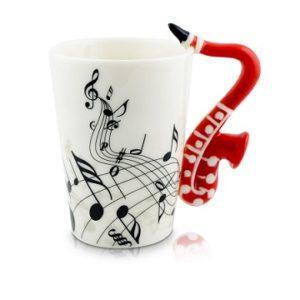 taza musical saxofon