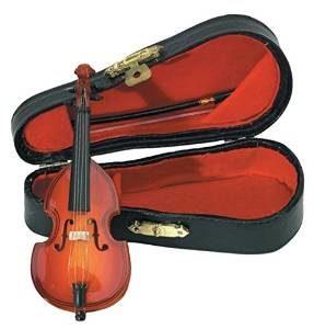 violin con estuche miniatura musical