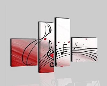 cuadro con notas musicales comprar