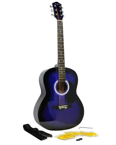 comprar guitarra española azul precio barato online