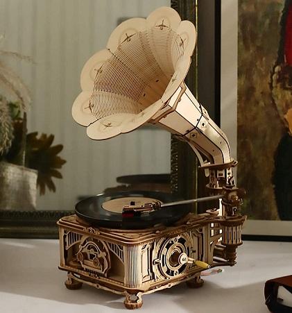 comprar gramofono madera para montar precio barato online