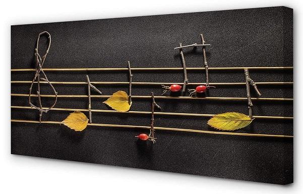 comprar pintura lienzo notas musicales precio barato online