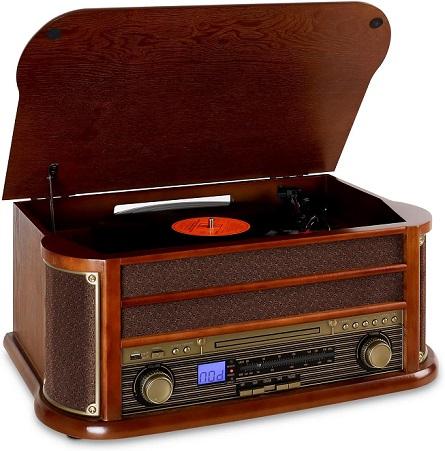 comprar tocadiscos vintage madera bluetooth precio barato online